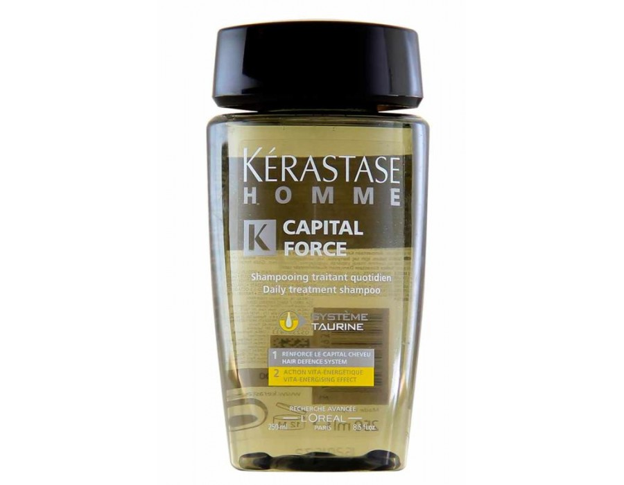 Освежающий шампунь для мужчин Kerastase Homme Capital Force Daily Treatment Shampoo Vita-Energising Effect